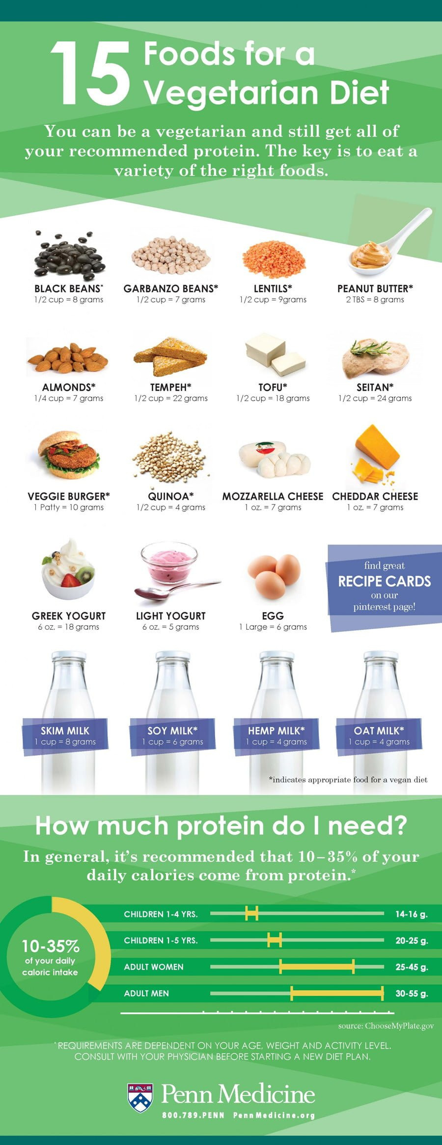 Healthy Vegetarian Protein  15 Foods For A Ve arian Diet Infographic