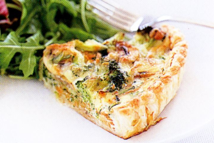 Healthy Vegetarian Quiche  Reduced fat ve able quiche