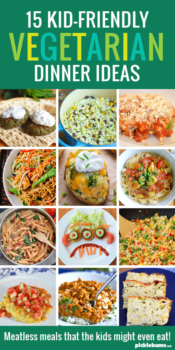 Healthy Vegetarian Recipes For Kids  15 Kid Friendly Ve arian Dinners Picklebums