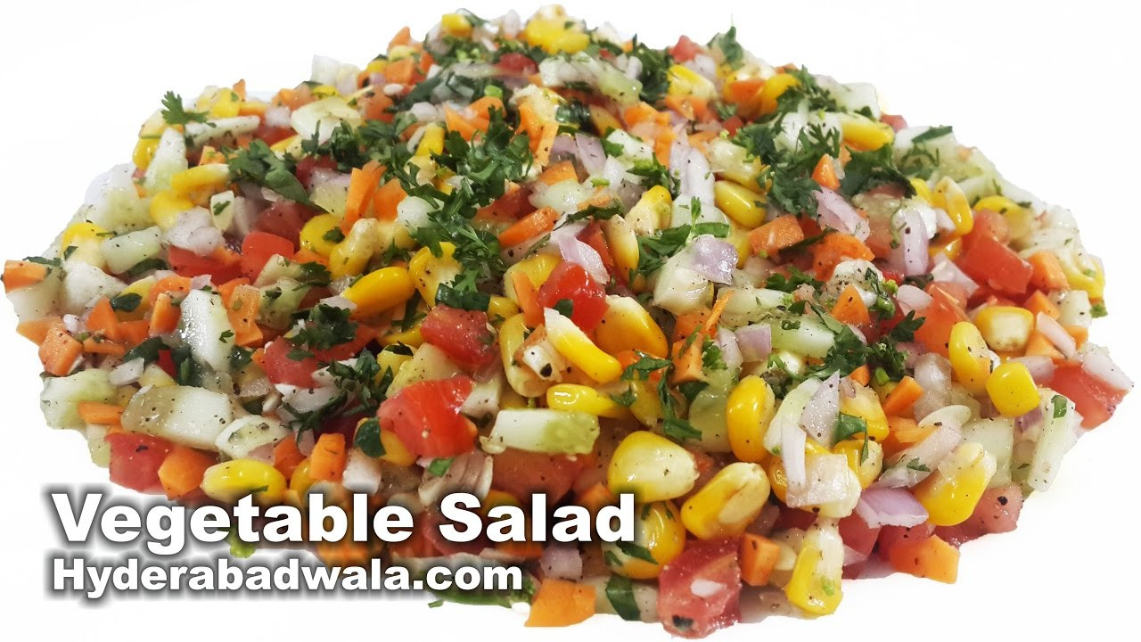 Healthy Vegetarian Salad Recipes  Healthy Ve able Salad Recipe Video How to Make Healthy