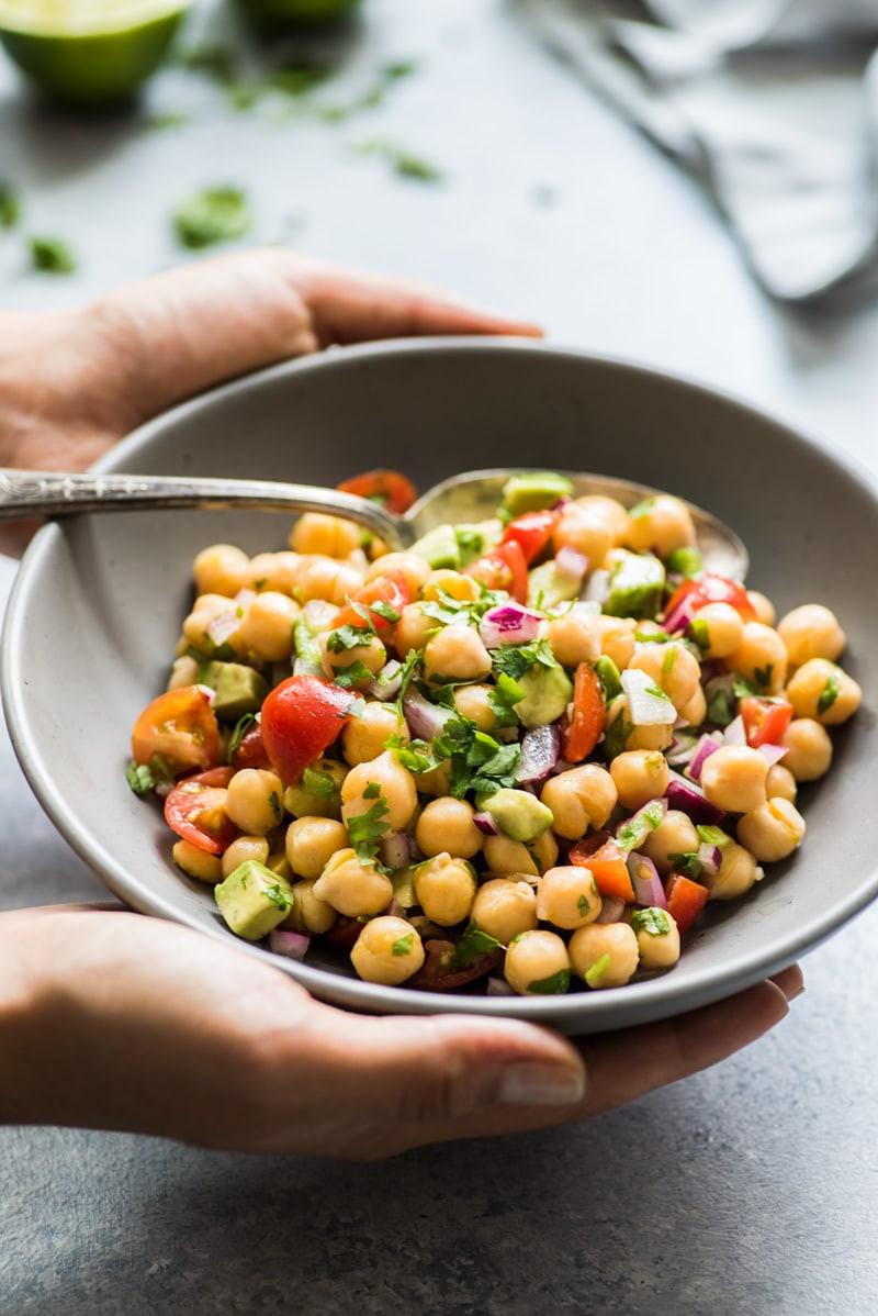 Healthy Vegetarian Salad Recipes  Mexican Chickpea Salad Isabel Eats Easy Mexican Recipes
