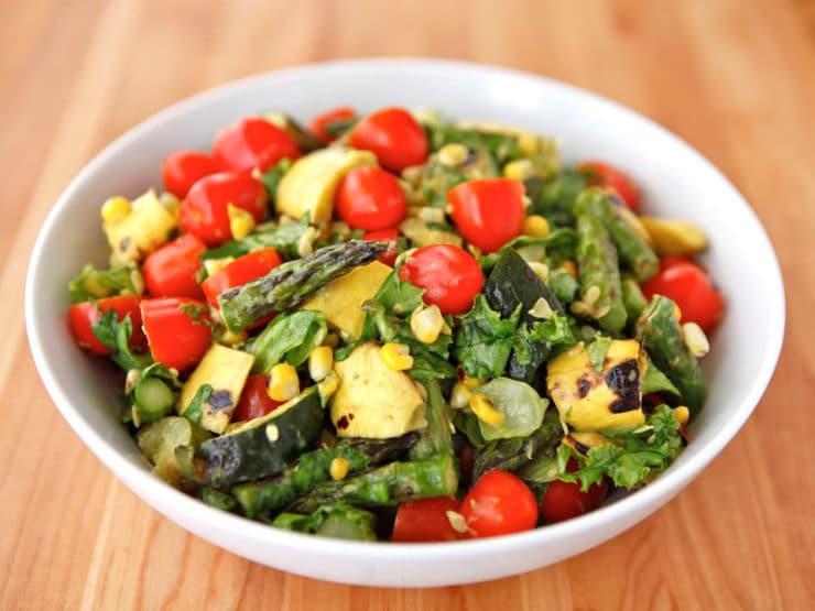 Healthy Vegetarian Salad Recipes  Grilled Ve able Salad Delicious Summer Salad
