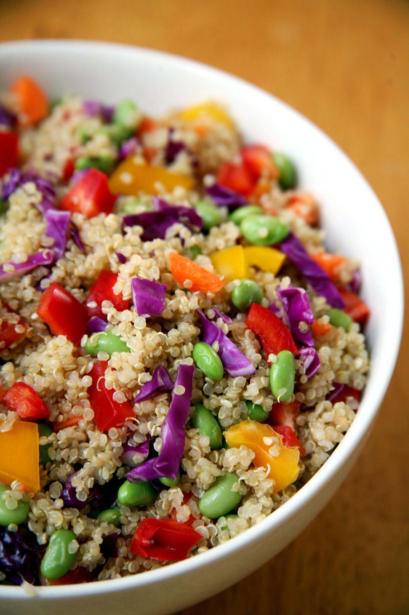 Healthy Vegetarian Salads  Healthy Quinoa Vegan Salad