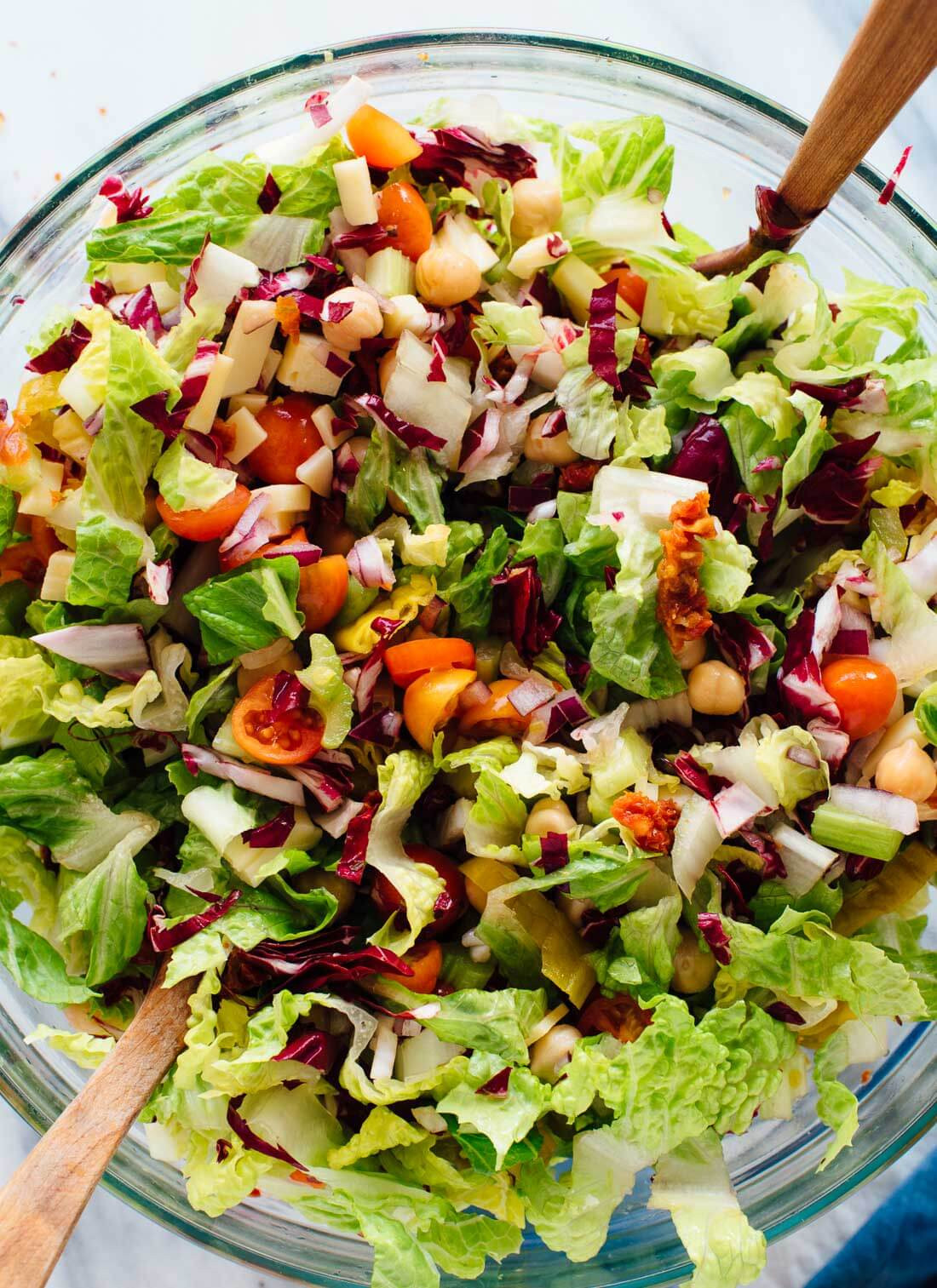 Healthy Vegetarian Salads  Ve arian Italian Chopped Salad Cookie and Kate