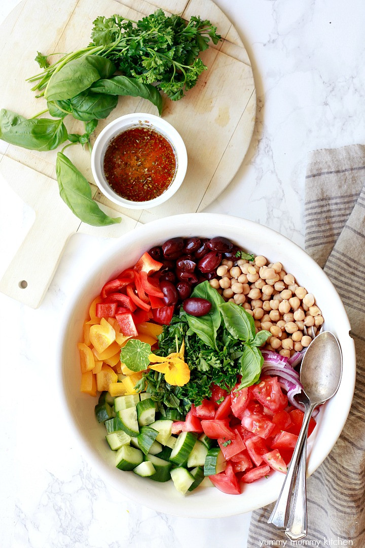 Healthy Vegetarian Salads  Healthy Vegan Greek Salad Yummy Mummy Kitchen