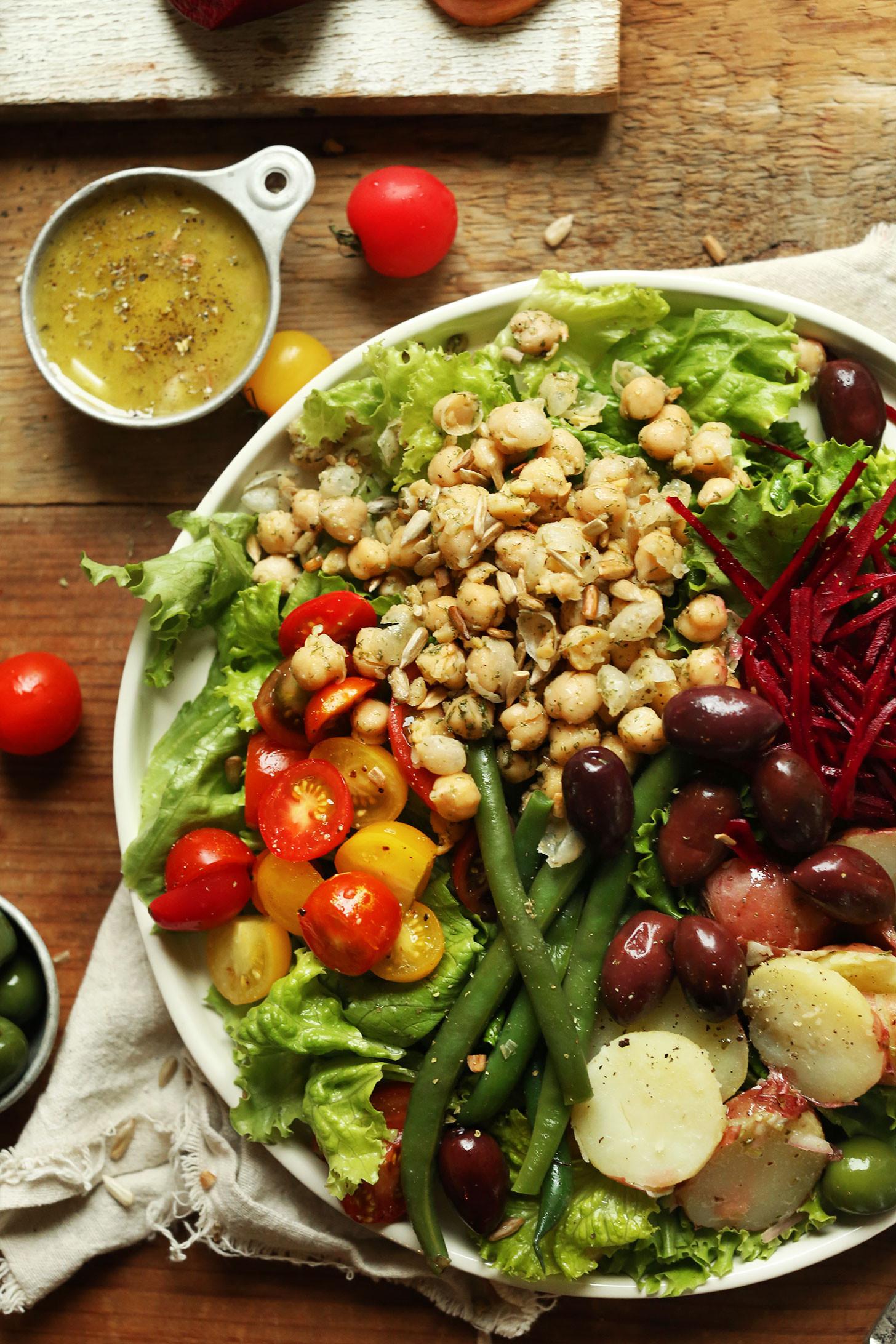 Healthy Vegetarian Salads  Vegan Nicoise Salad