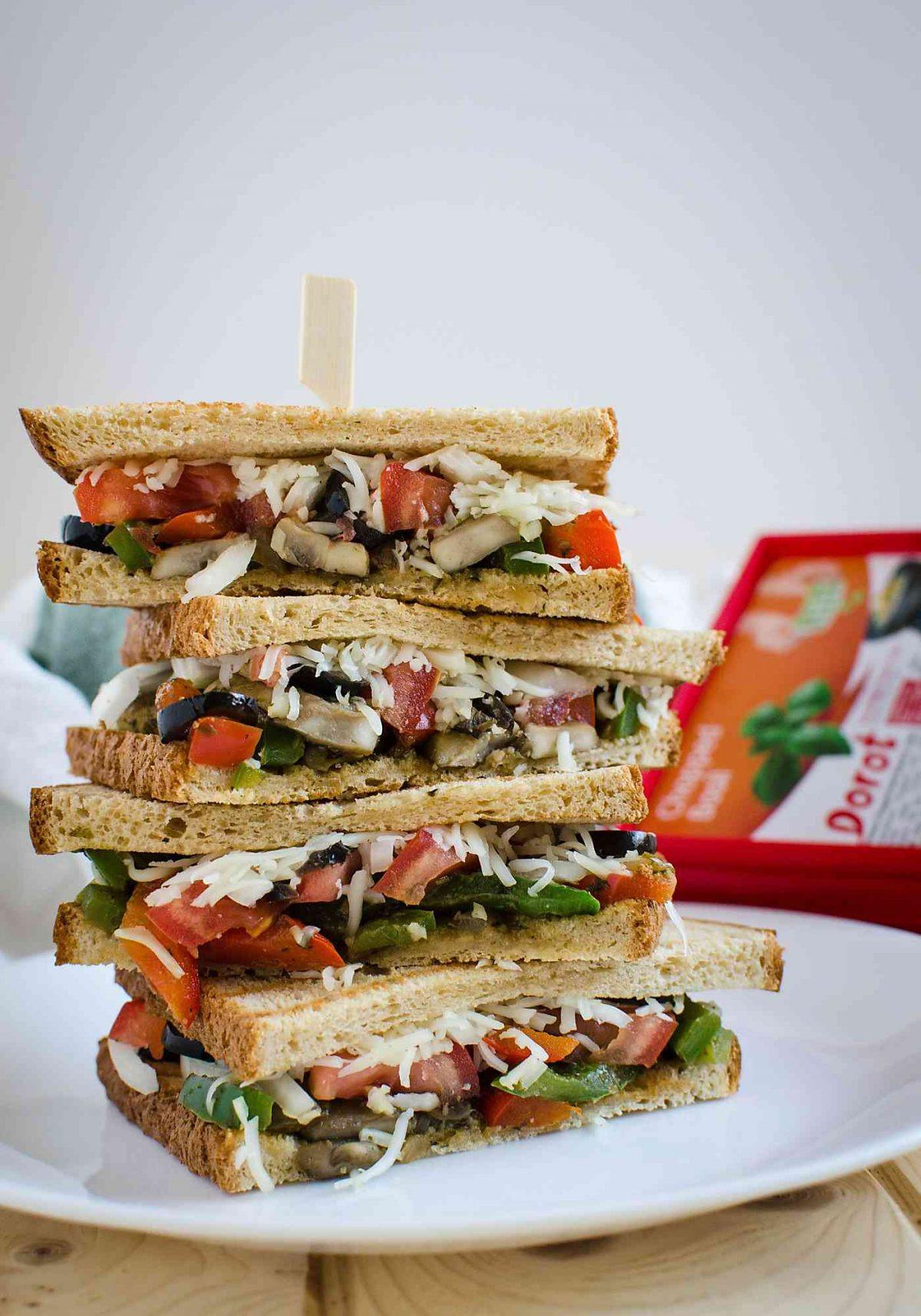 Healthy Vegetarian Sandwich Recipes  15 min Easy and Healthy Italian Flavored Veggie Sandwich