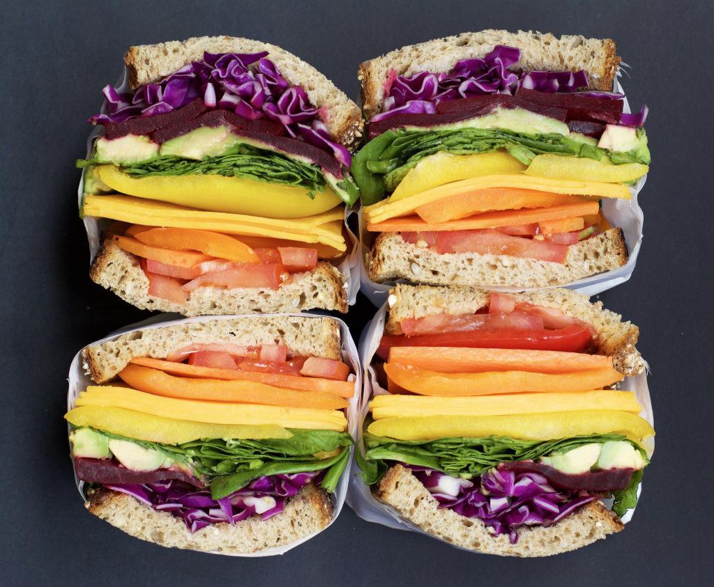 Healthy Vegetarian Sandwich Recipes  Fab Recipe Healthy Ve arian Rainbow Sandwich Fab Food
