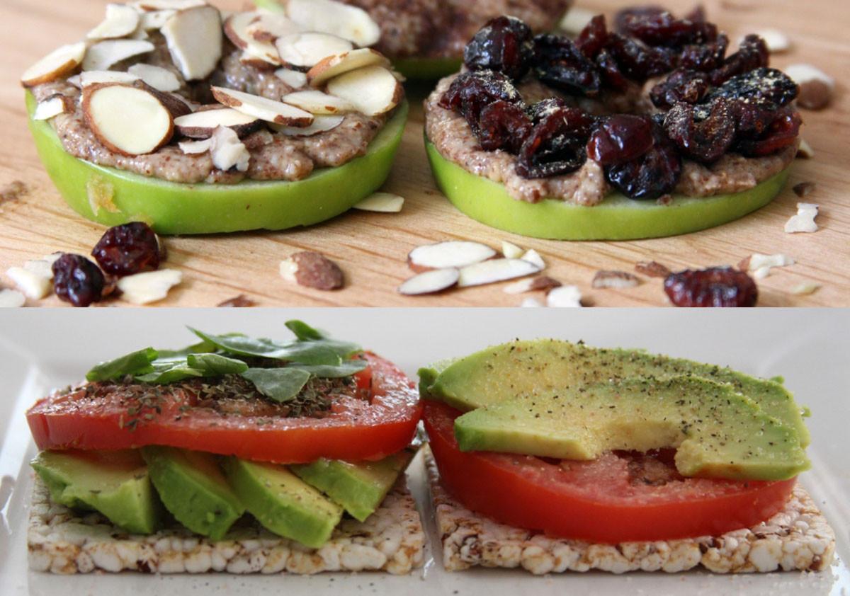 Healthy Vegetarian Snacks  2 Super FAST Healthy Snacks