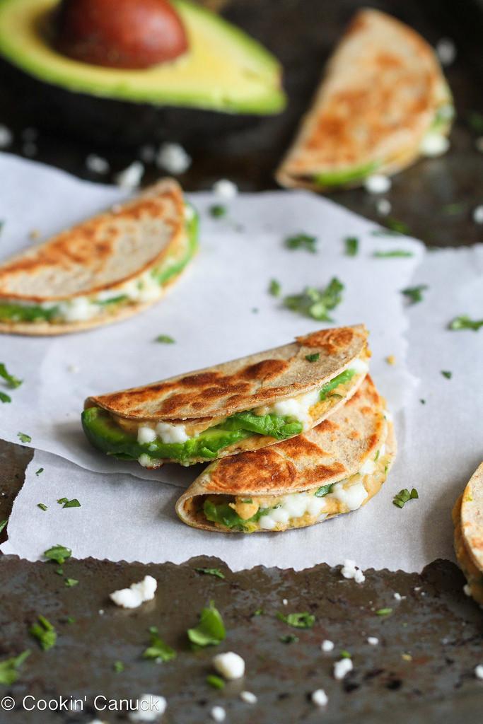 Healthy Vegetarian Snacks  Mini Avocado & Hummus Quesadilla Recipe Healthy Snack