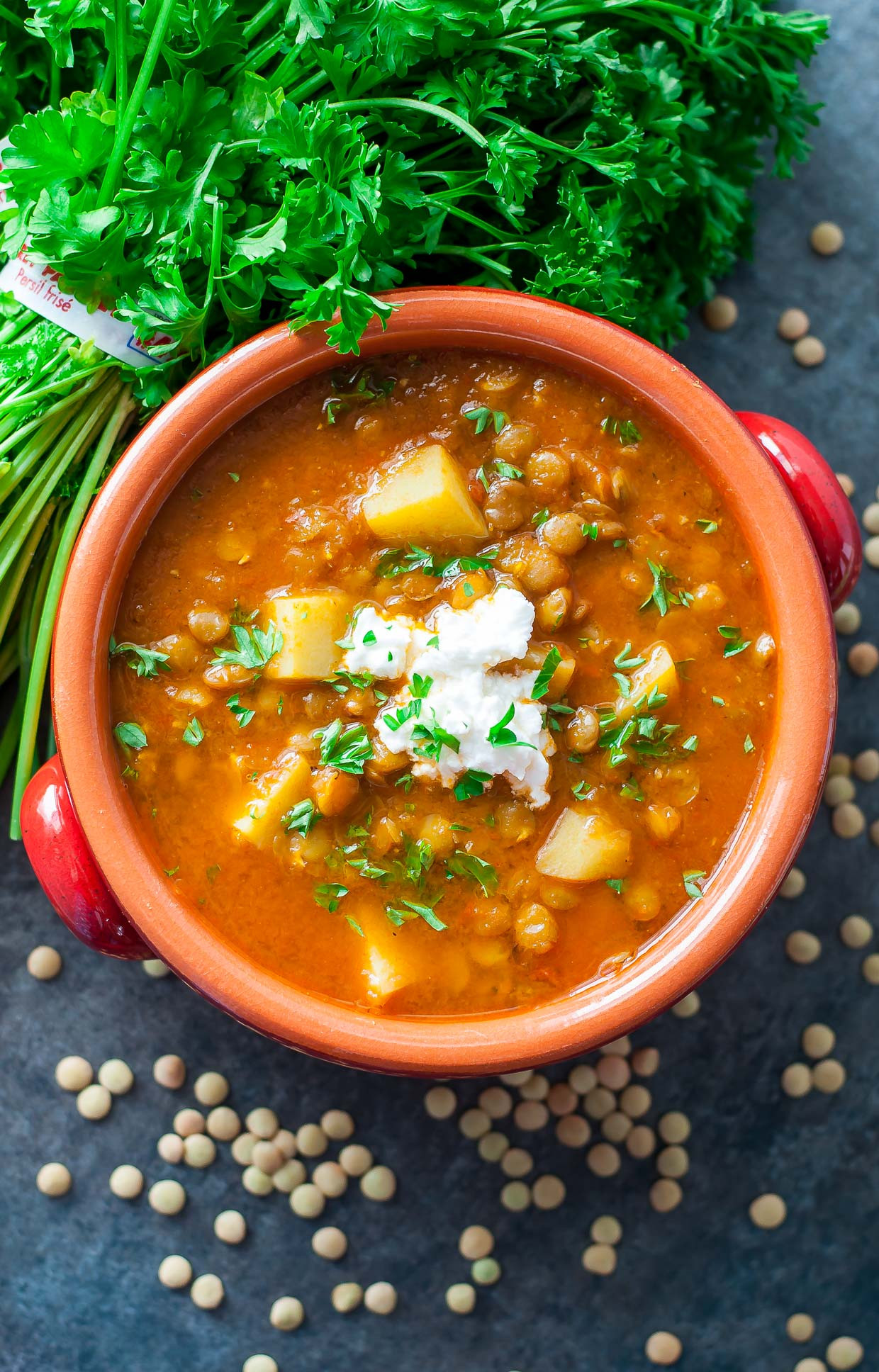 Healthy Vegetarian Soup Recipes  Ve arian Healthy Lentil Soup Recipe Peas and Crayons