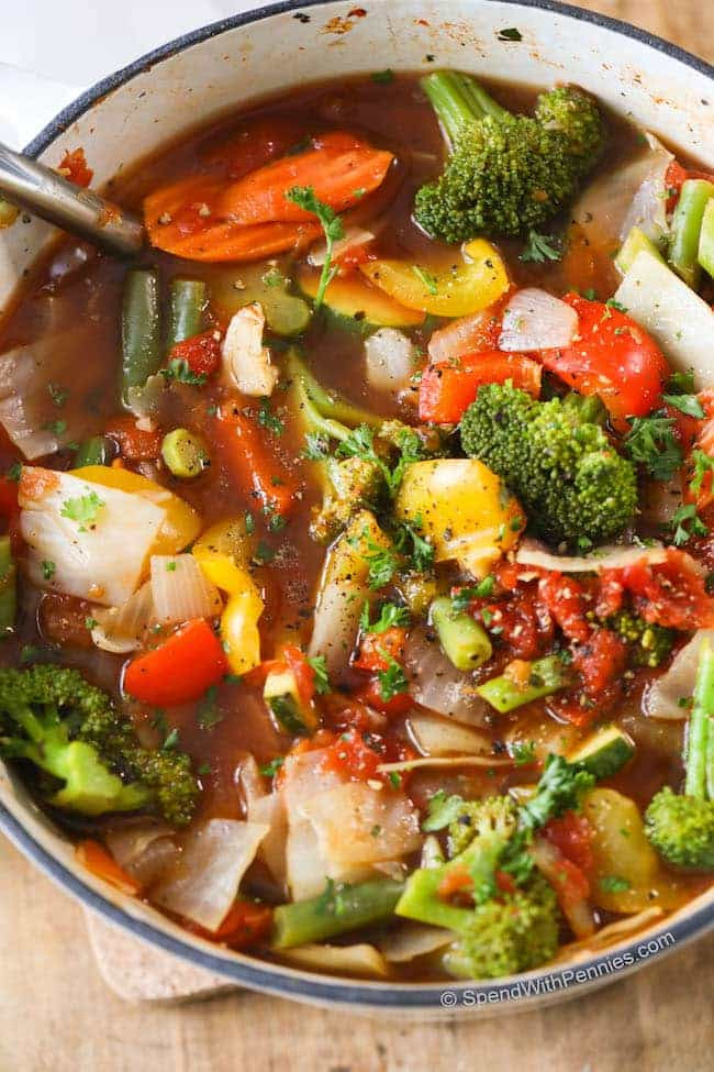 Healthy Vegetarian Soup Recipes  Weight Loss Ve able Soup w Amazing Flavor Spend