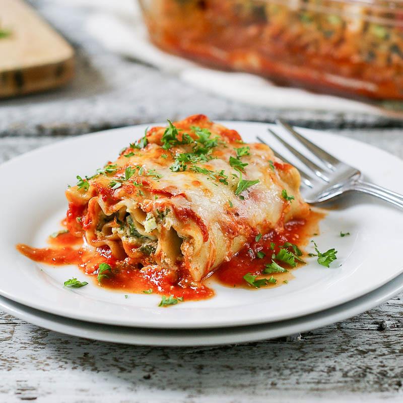 Healthy Veggie Lasagna  Healthy Ve arian Lasagna Rolls
