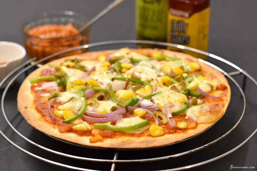 Healthy Veggie Pizza Recipe  Veg Pizza Recipe