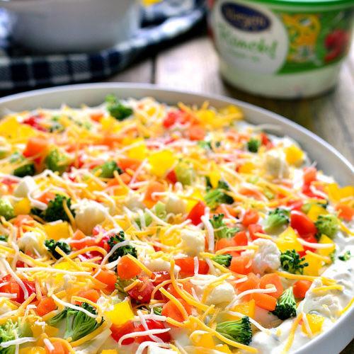 Healthy Veggie Pizza Recipe  Veggie Pizza Dip Get Healthy U
