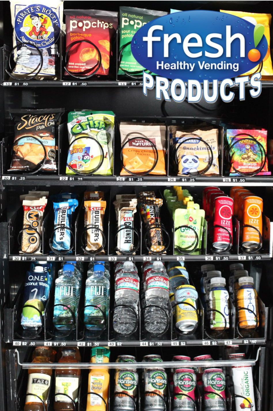 Healthy Vending Machine Snacks List  Progressive Products Now fered in Northeast Ohio by