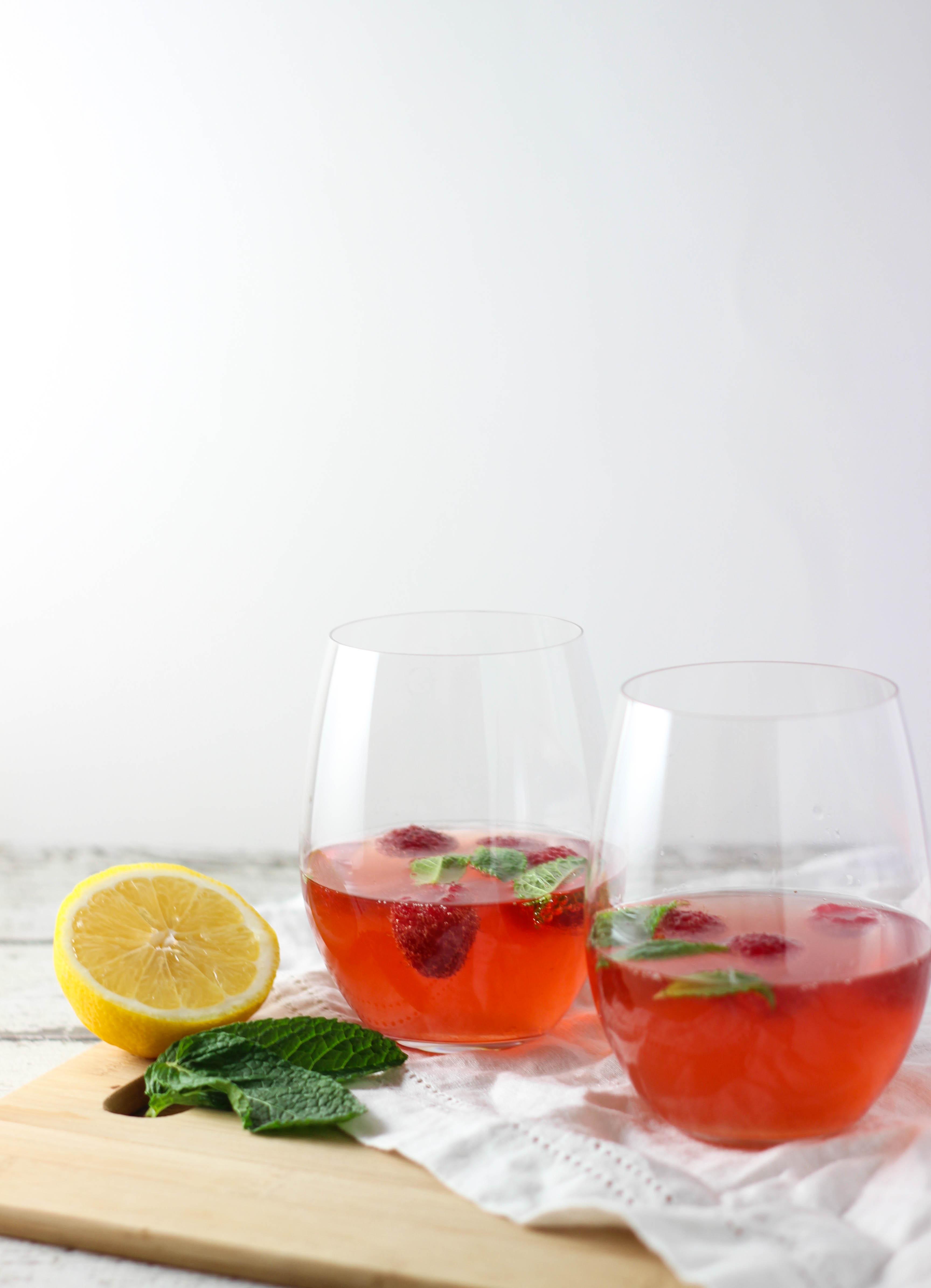 Healthy Vodka Drinks  Raspberry Mint Rosé Exploring Healthy Foods
