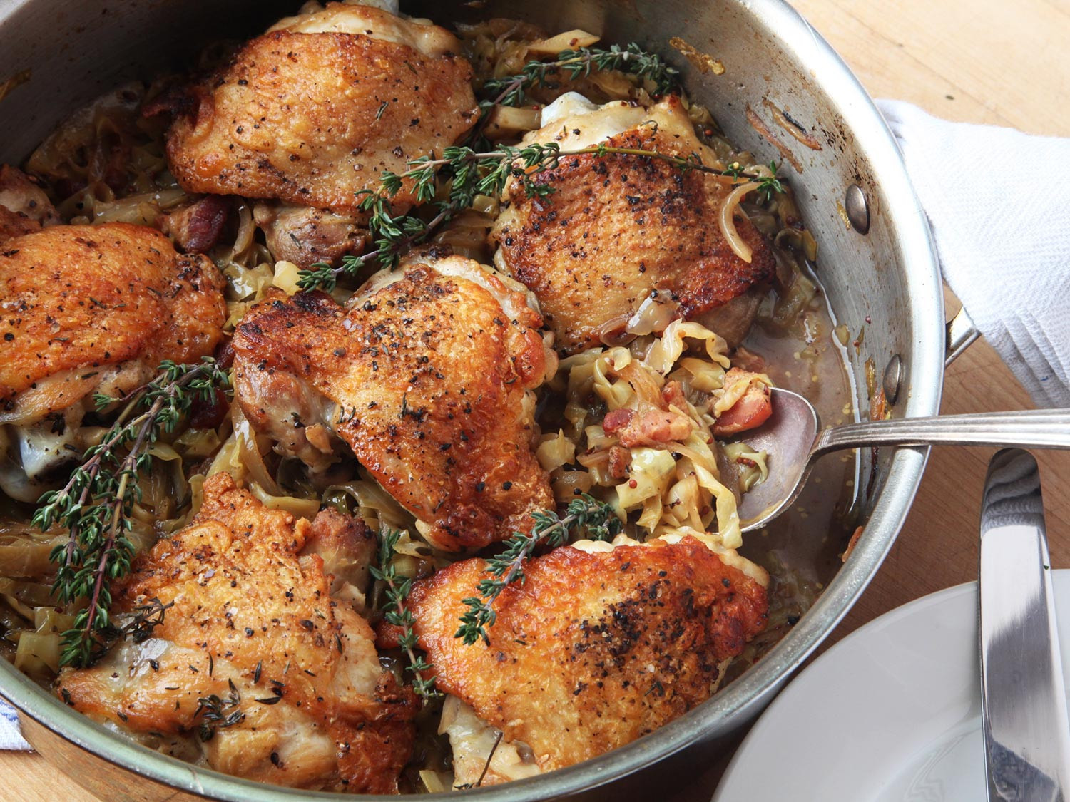 Healthy Way To Cook Chicken Thighs  Familiar but Fresh Crispy Braised Chicken Thighs With