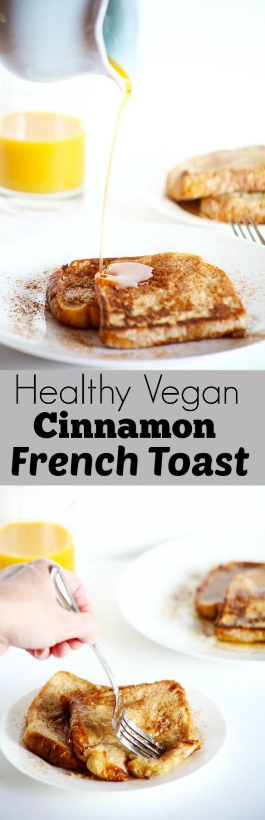 Healthy Weekend Breakfast  Healthy Vegan Cinnamon French Toast TwoRaspberries