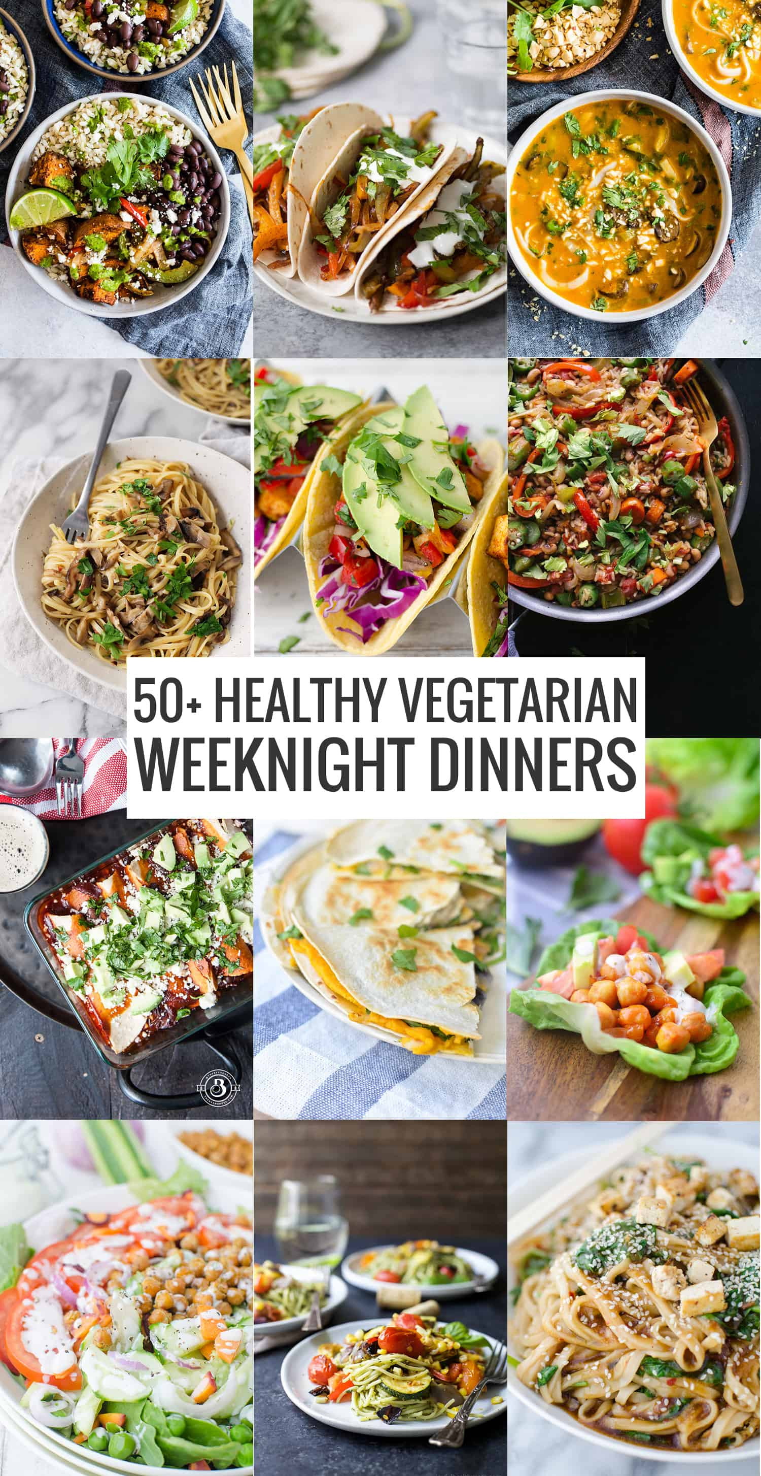 Healthy Weeknight Dinners  50 Healthy Ve arian Weeknight Dinners Delish Knowledge