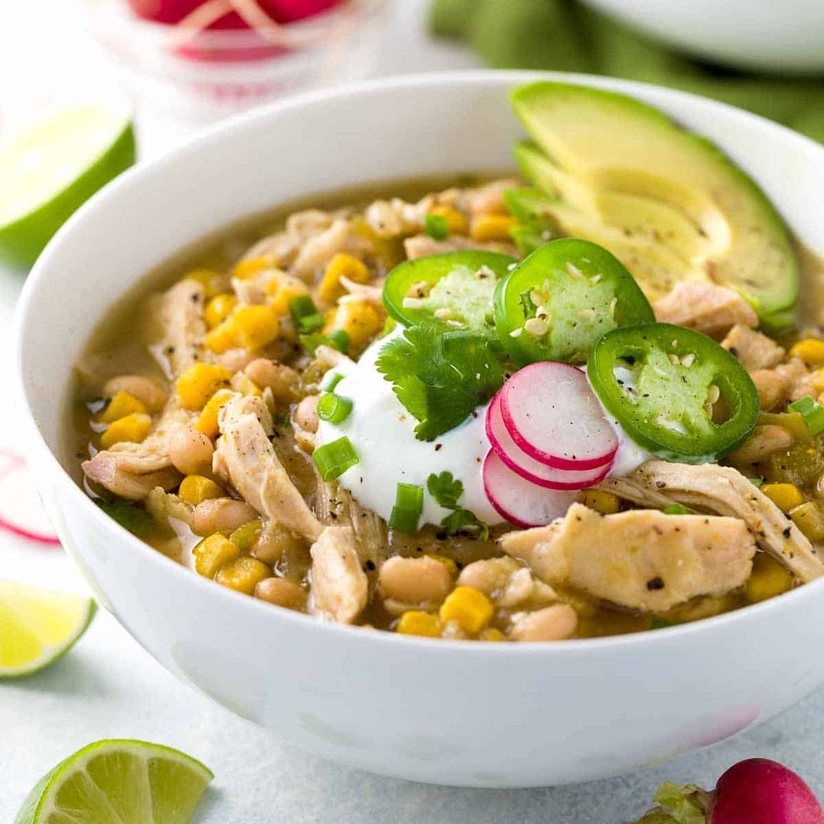 Healthy White Bean Chicken Chili  healthy white bean chili recipe