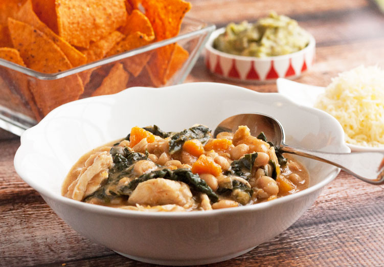 Healthy White Bean Chicken Chili  Healthy White Bean Chicken Chili Two Lazy Gourmets