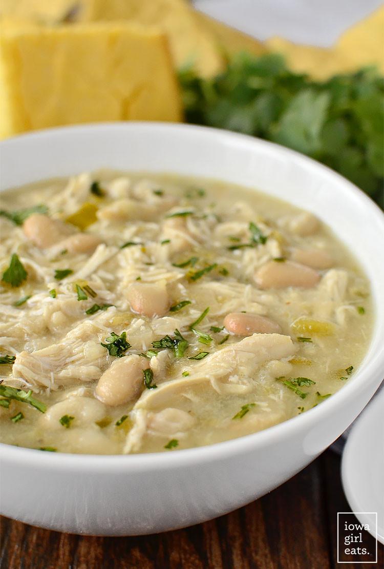 Healthy White Bean Chicken Chili  Crock Pot White Chicken Chili Healthy Crock Pot Recipe
