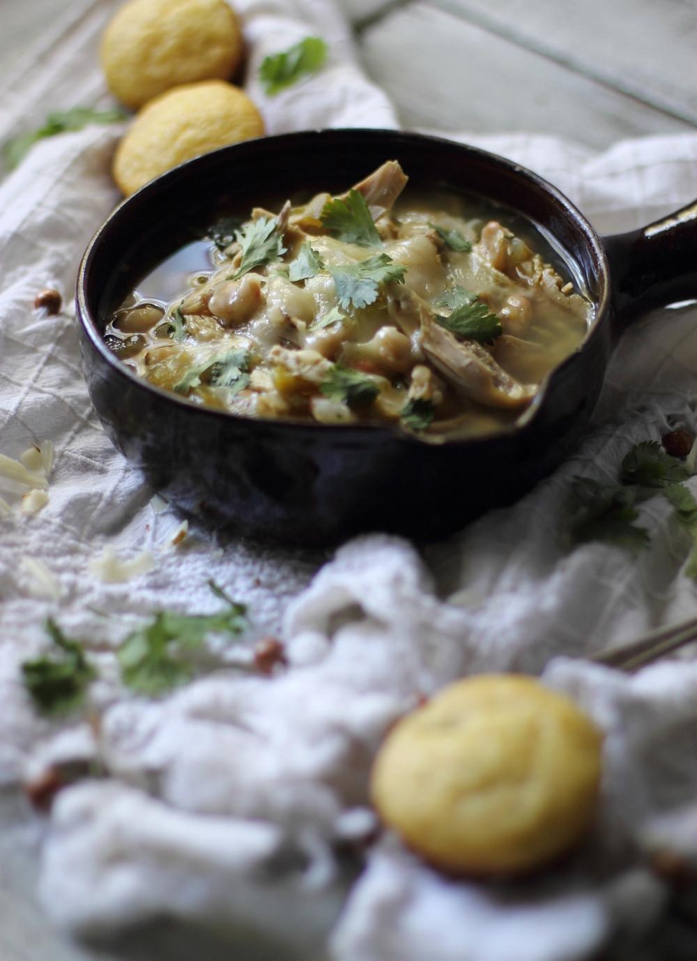 Healthy White Bean Chicken Chili  Healthy White Bean Chicken Chili — My Diary of Us