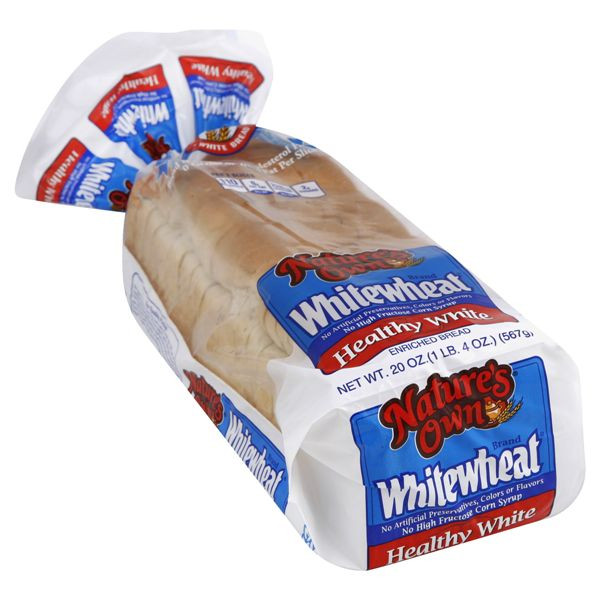 Healthy White Bread  Natures Own Whitewheat Bread Enriched Healthy White Be
