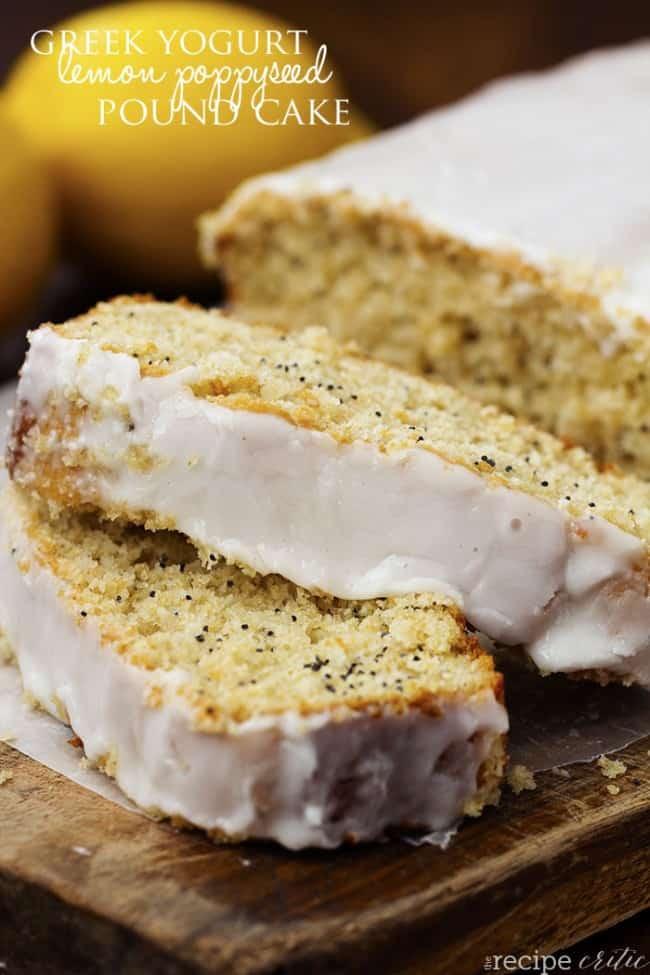 Healthy White Cake Recipe  Healthy Greek Yogurt Lemon Poppyseed Pound Cake