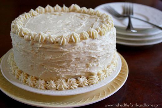 """Healthy White Cake Recipe  Vanilla Vegan Birthday Cake with Buttercream"""" Icing"""