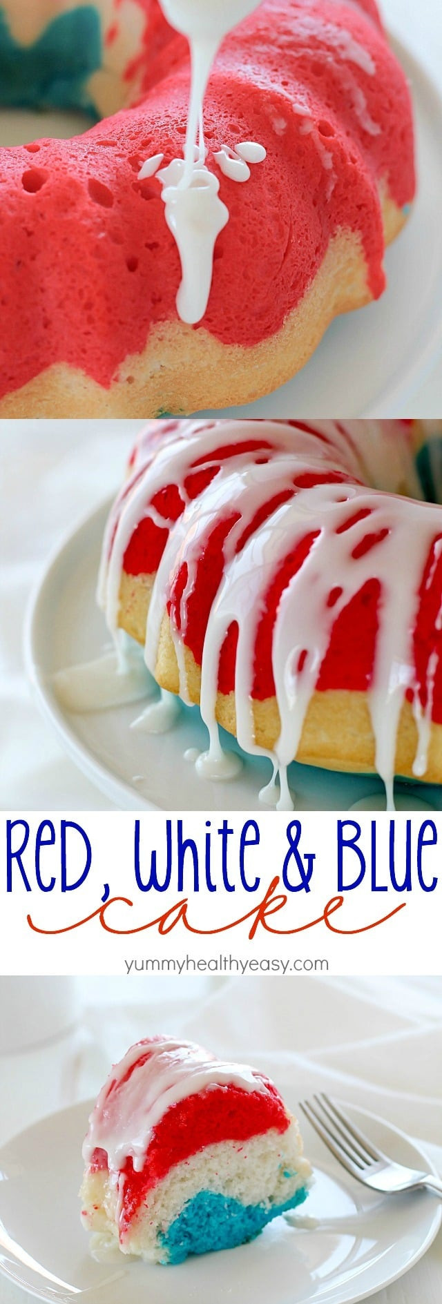 Healthy White Cake Recipe  Easy Red White and Blue Cake Recipe Yummy Healthy Easy