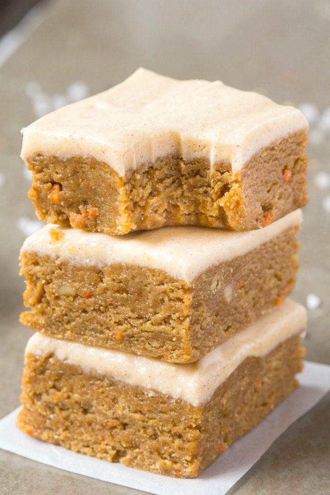 Healthy White Cake Recipe  Healthy No Bake Carrot Cake Breakfast Bars