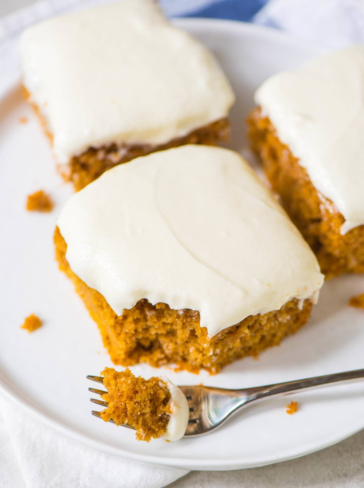 Healthy White Cake Recipe  Pumpkin Sheet Cake with Fluffy Cream Cheese Frosting