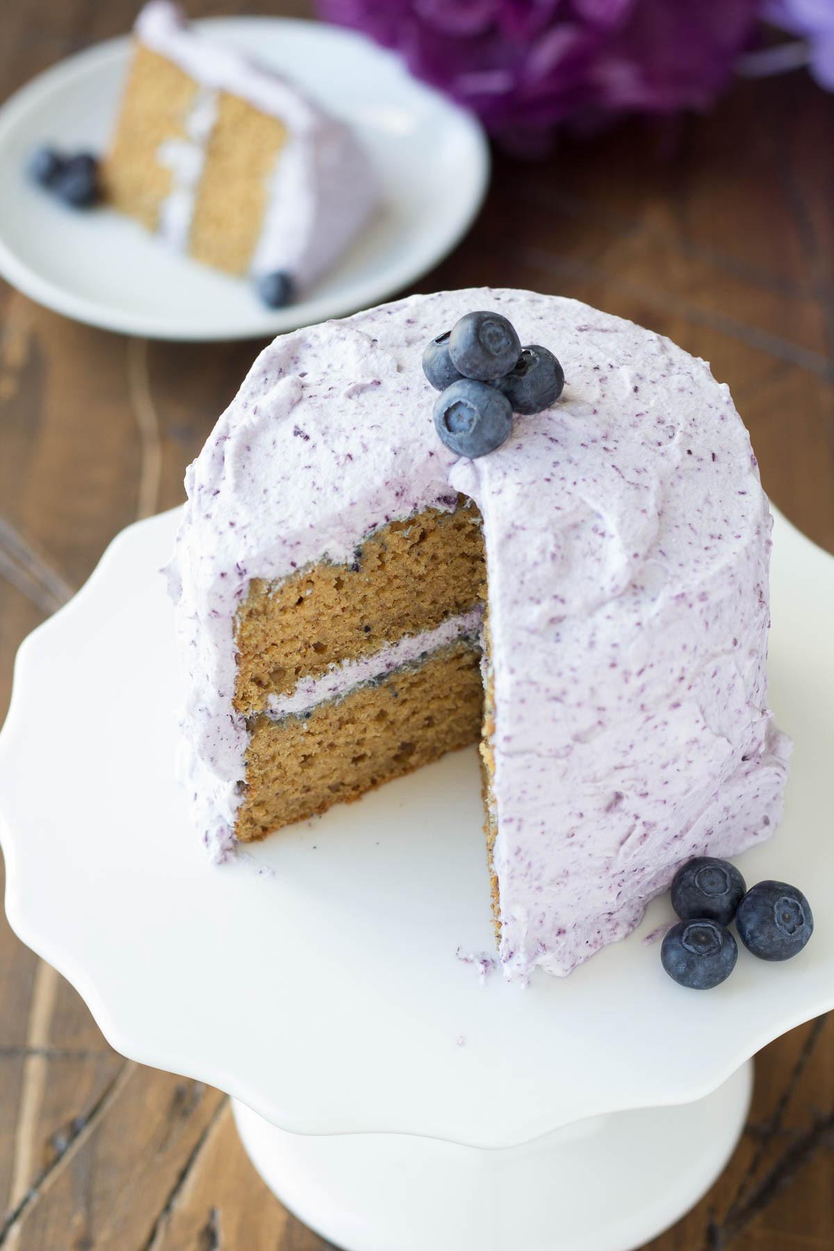 Healthy White Cake Recipe  Healthier Smash Cake Recipe Hannah s Purple Polka Dot 1st