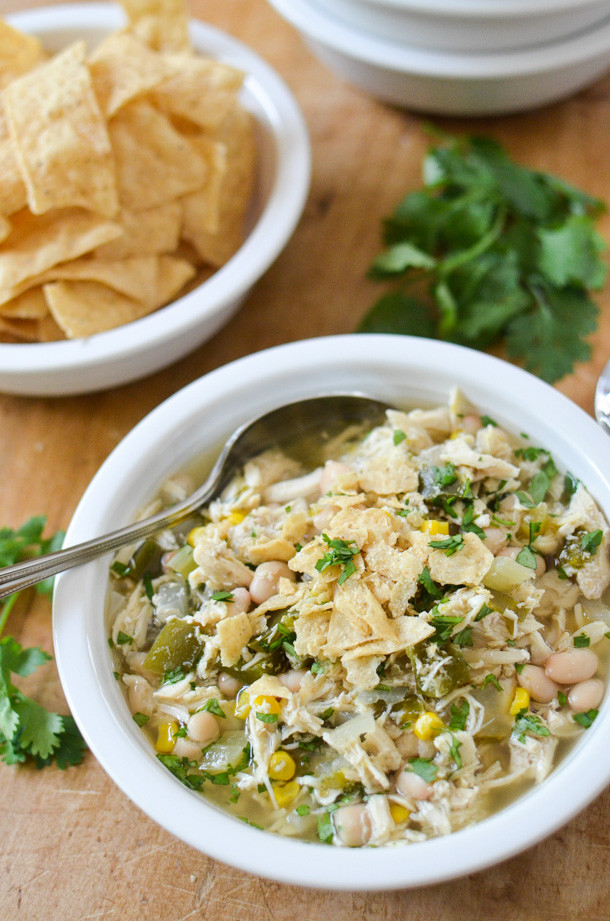 Healthy White Chicken Chili Slow Cooker  Slow Cooker White Chicken Chili Simply Whisked