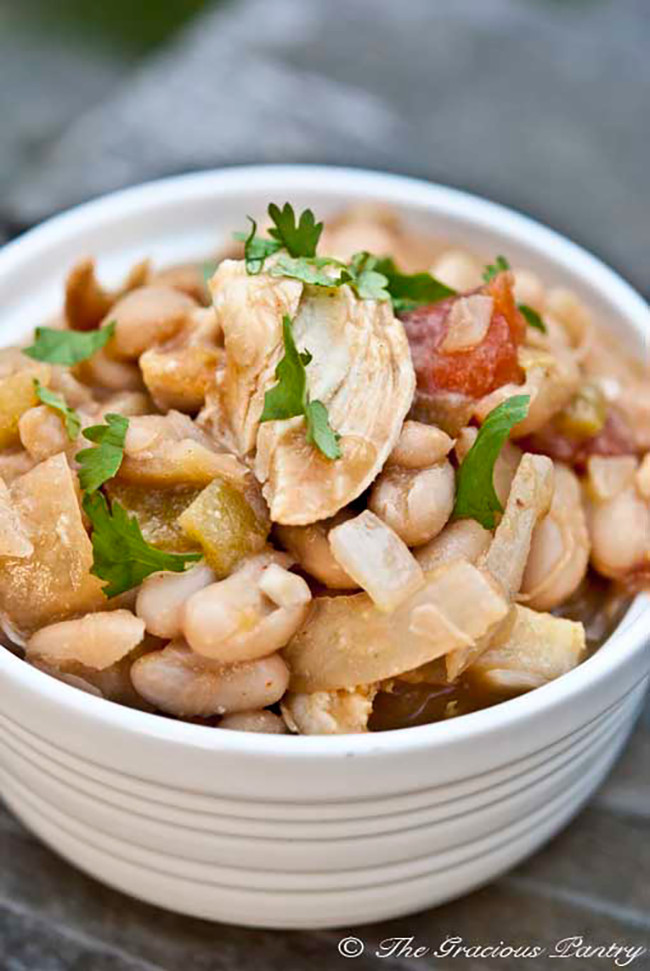 Healthy White Chicken Chili Slow Cooker  15 Clean Eating Crockpot Recipes My Life and Kids