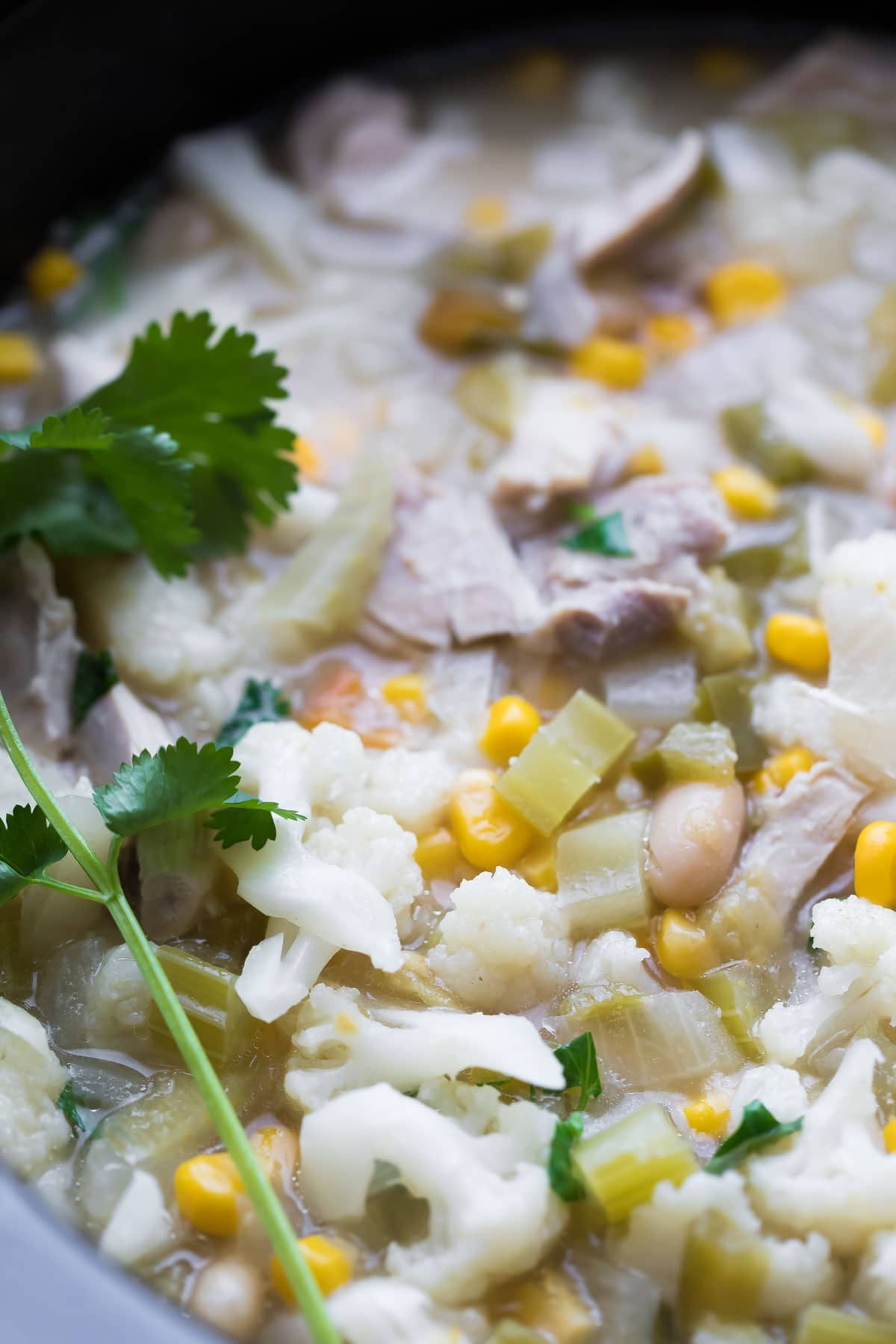 Healthy White Chicken Chili Slow Cooker  Healthy Slow Cooker White Chicken Chili Freezer to Crock