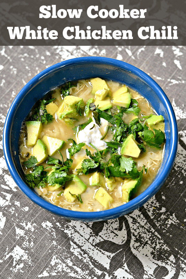 Healthy White Chicken Chili Slow Cooker  Slow Cooker White Chicken Chili