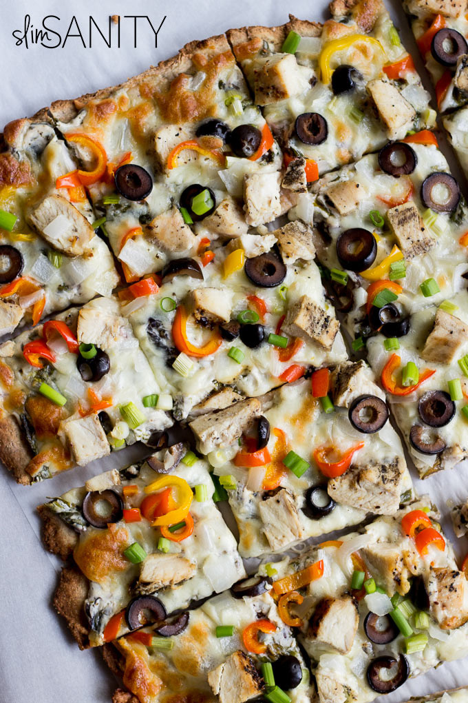 Healthy White Pizza Sauce Recipe  Spinach and Chicken White Sauce Pizza Slim Sanity