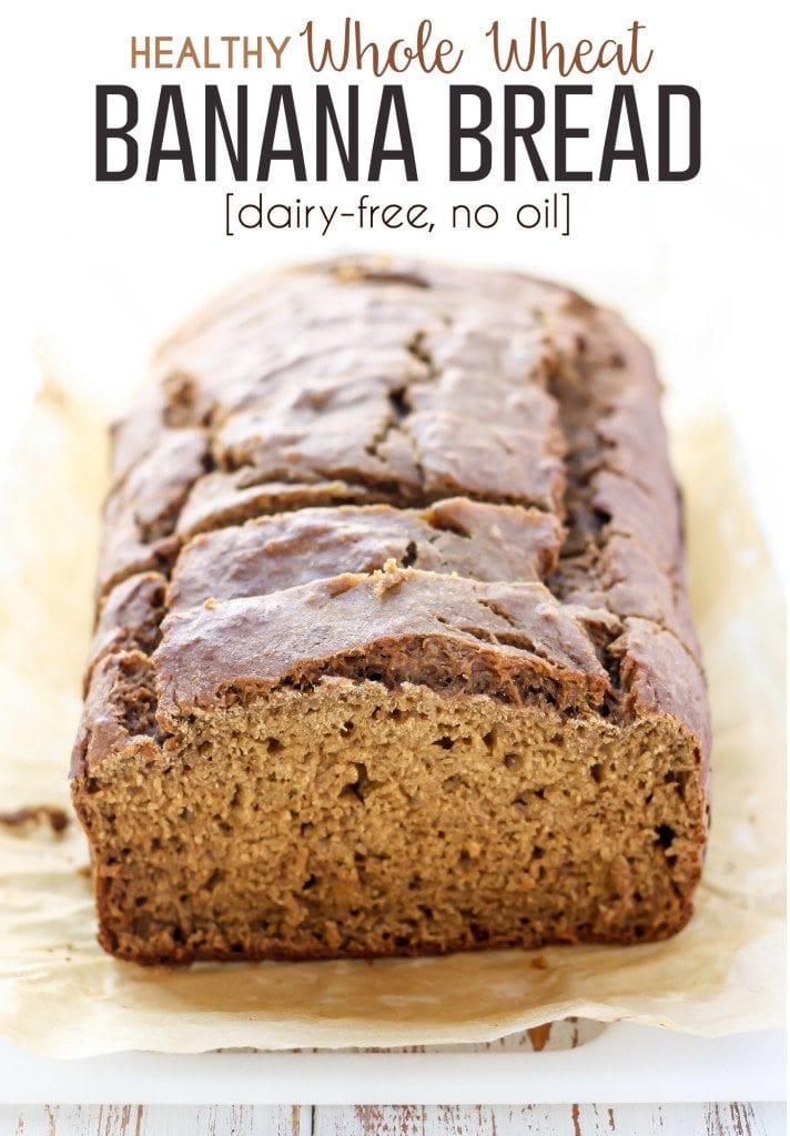 Healthy Whole Wheat Banana Bread  Healthy Whole Wheat Banana Bread [low fat dairy free