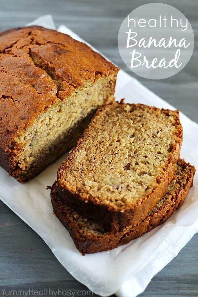 Healthy Whole Wheat Banana Bread  whole grain healthy banana bread