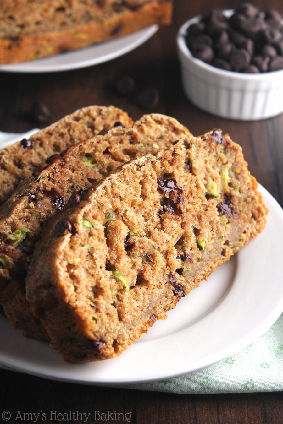 Healthy Whole Wheat Zucchini Bread  whole wheat chocolate chip zucchini bread