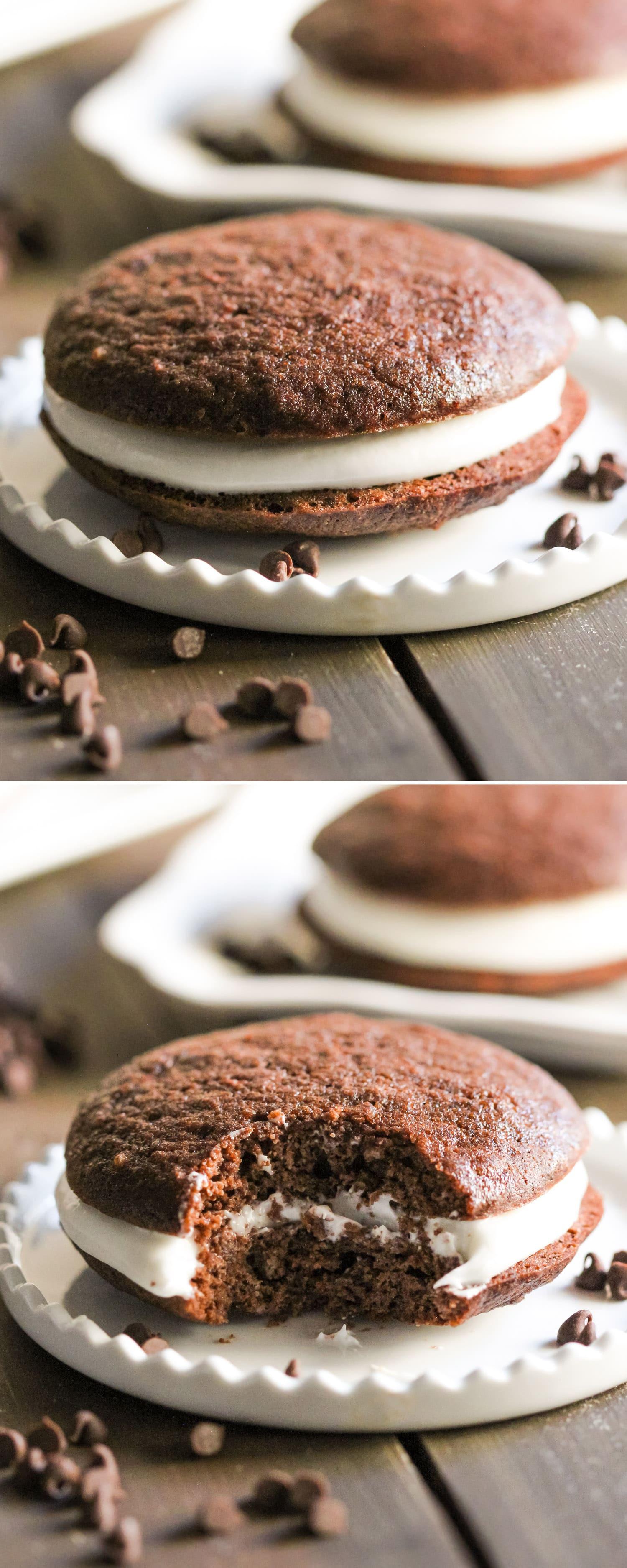 Healthy Whoopie Pies  Healthy Chocolate Whoopie Pies Recipe
