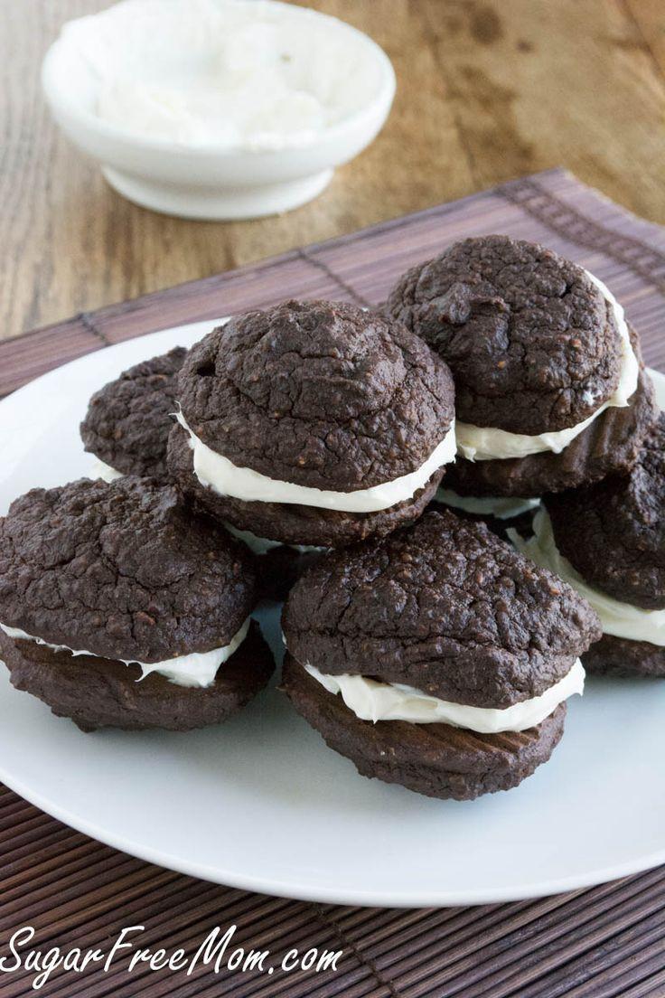 Healthy Whoopie Pies  Sugar Free Chocolate Oatmeal Whoopie Pies