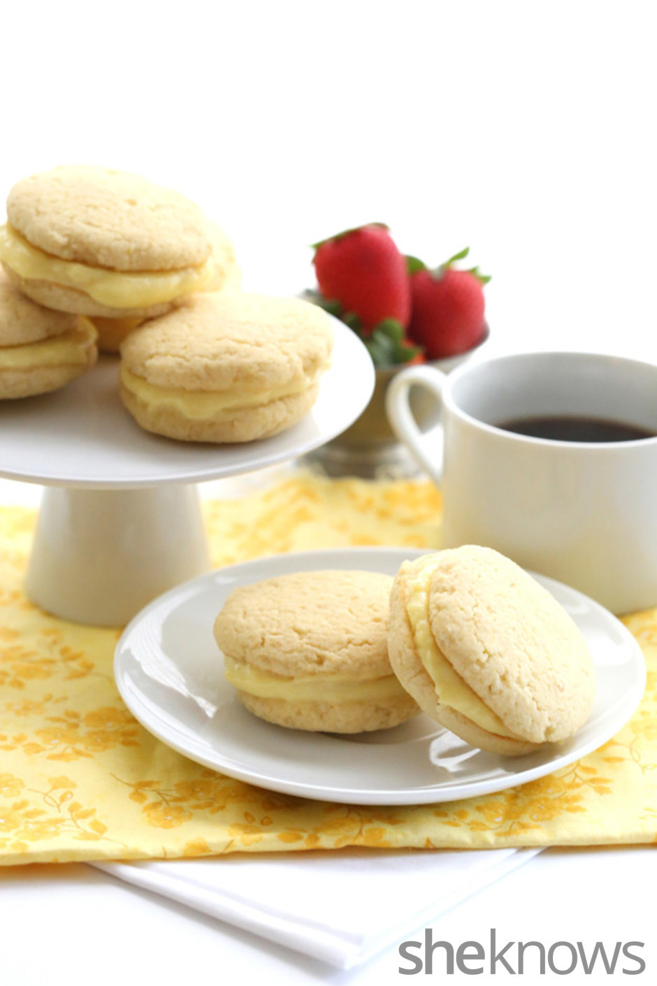 Healthy Whoopie Pies  Healthy lemon curd whoopie pies are a sweet Mother s Day treat