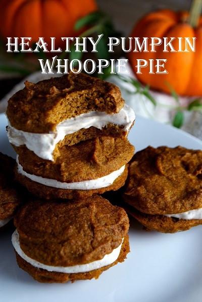 Healthy Whoopie Pies  Healthy Pumpkin Whoopie Pie Recipe GroovyBeets
