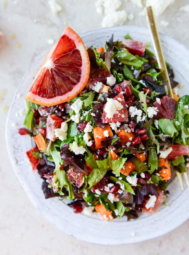 Healthy Winter Dinners  Winter Chopped Salad with Roasted Sweet Potato and Blood