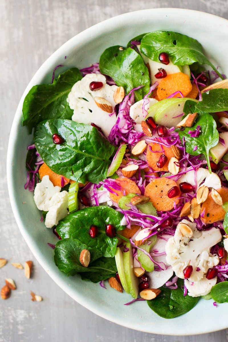 Healthy Winter Salads  Vegan winter salad Lazy Cat Kitchen