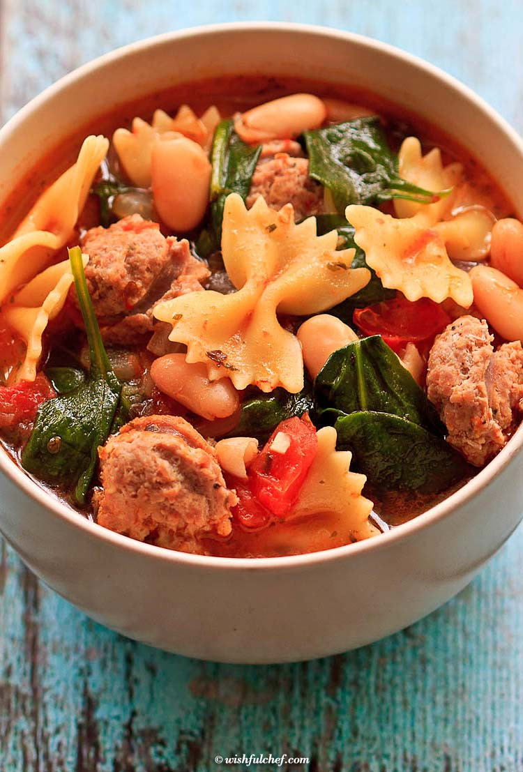 Healthy Winter Soups  Healthy Italian Winter Soup with Turkey Sausage Wishful Chef